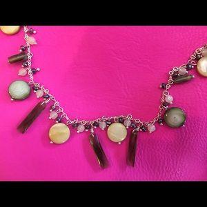 Lia Sophia Jewelry - Lia Sophia shell and bead silver necklace